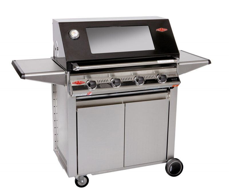 Beefeater Signature S3000E 4 Burner BS19242 Stainless Steel BBQ & Designer Side Burner Trolley