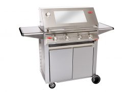 Beefeater Signature S3000S 4 Burner BS19340 Stainless Steel BBQ (cast iron pack) & Designer Side Burner Trolley