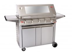 Beefeater Signature S3000S 5 Burner BS19350 Stainless Steel BBQ (cast iron pack) & Designer Side Burner Trolley