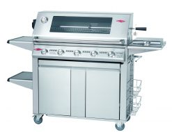 Beefeater Signature S3000S Premium Plus 5 Burner Stainless Steel BBQ & Side Burner Trolley (Stainless Steel Pack)