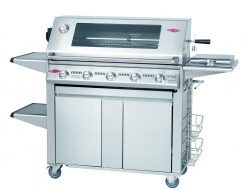 "Beefeater Signature Gas Barbecue S3000S Series Stainless Steel 5 Burner BBQ (cast iron pack) ""Plus"" Side Burner Trolley"