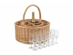 Windsor Garden Party Wine Basket Avant Garden Guernsey