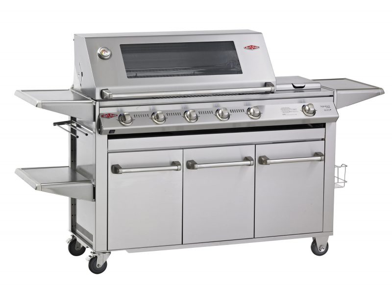 "Beefeater Signature SL4000S Series 6 Burner Barbecue & ""Drawer"" Side Burner Trolley"