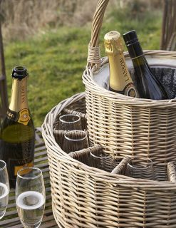 Henley Garden Party Chilled Champagne Basket | Avant Garden Guernsey