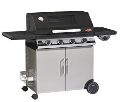 Beefeater Discovery 1100E Series 4 Burner BBQ with Stainless Steel Cabinet with Side Burner 1 | Avant Garden