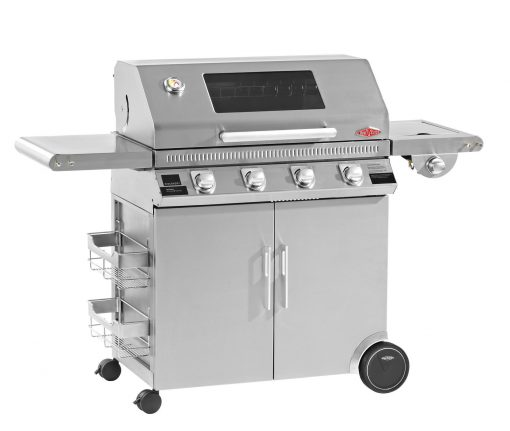 Beefeater Discovery 1100R Series 4 Burner Stainless Steel BBQ and Cabinet with Side Burner 1 | Avant Garden
