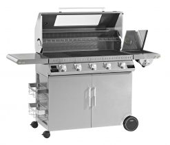 Beefeater BD47950 Discovery 1100S Series 5 Burner Stainless Steel BBQ and Cabinet with Side Burner