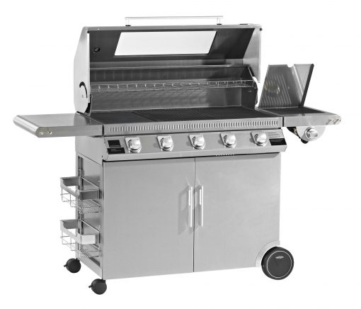 Beefeater Discovery 1100R Series 5 Burner Stainless Steel BBQ and Cabinet with Side Burner 1 | Avant Garden