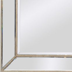 Aston Modern Mirrored Console With Matching Mirror