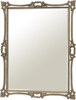 Roxborough Mindi Wood Console and Oversized Handcarved Mirror