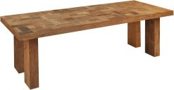 Butchers Block Recycled Teak Rectangular Dining Table 2.5m