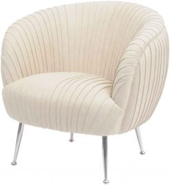 Gatsby Pleated Cappuccino Leather Occasional Chair