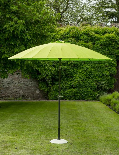 84608 Exotic Eastern Style Umbrella 270cm Lime Avant Garden Guernsey