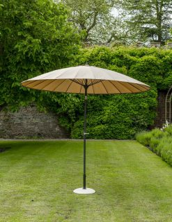 84610 Exotic Eastern Style Taupe Umbrella 270cm 1 | Avant Garden