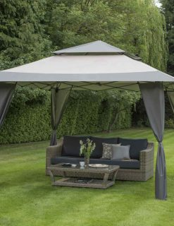 84700 Bellevue Grey 4 x 4m Easy Pop Up Gazebo 1 Avant Garden Guernsey