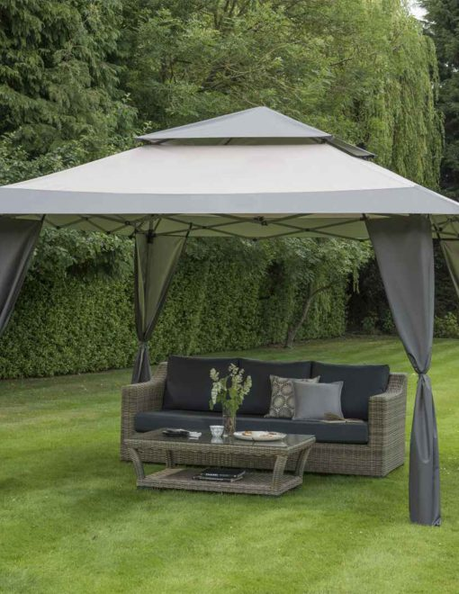 84700 Bellevue Grey 4 x 4m Easy Pop Up Gazebo 1 | Avant Garden
