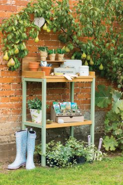 90015 English Garden Range Potting Table Natural Green 2 Avant Garden Guernsey