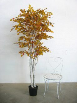 Duo Pack Birch Tree 160cm each high 1089 Golden Leaves