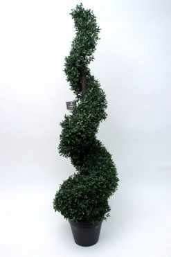 Duo Set Box Tree Spiral Topiary Plant 120cm High 1036 Green??Leaves