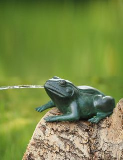 MI 58 Solid Bronze Frog Fountain Sculpture Head High 1 | Avant Garden