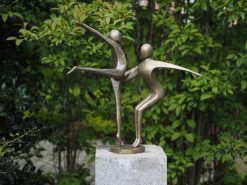 Fine Cast Bronze Sculpture Modern Dancing gymnasts