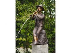 Fine Cast Bronze Sculpture Boy with flute