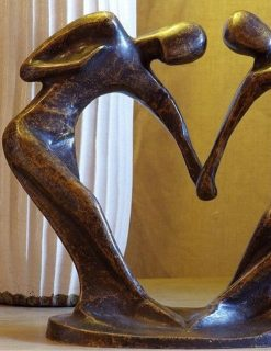 MO 6 Solid Bronze Sculpture Forever Lovers 24cm | Avant Garden