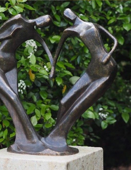 Fine Cast Bronze Modern Sculpture Forever Lovers 1