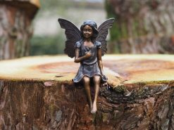 Bronze Flower Fairy Sculpture