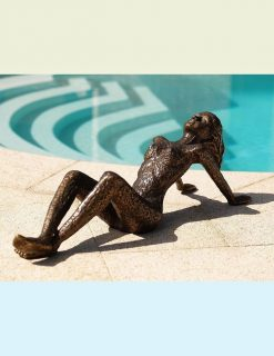 FIWO 24 Solid Bronze Nude Sunbather Sculpture 1 | Avant Garden