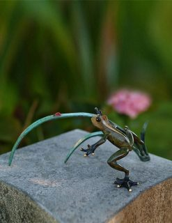 Bronze Sculpture Frog Ladybird