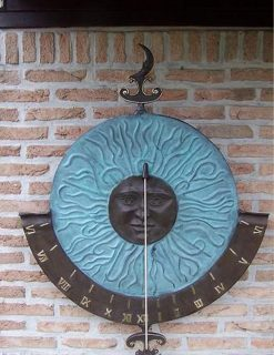 AR 17 Vertical Sundial Bronze Sculpture Home & Garden Decor 1 | Avant Garden