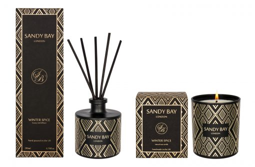 AV020 Sandy Bay London Winter Spice Candle Reed Diffuser Gift Set