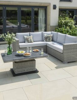Tarragona Outdoor Sofa suite adjustable Table all weather cushions