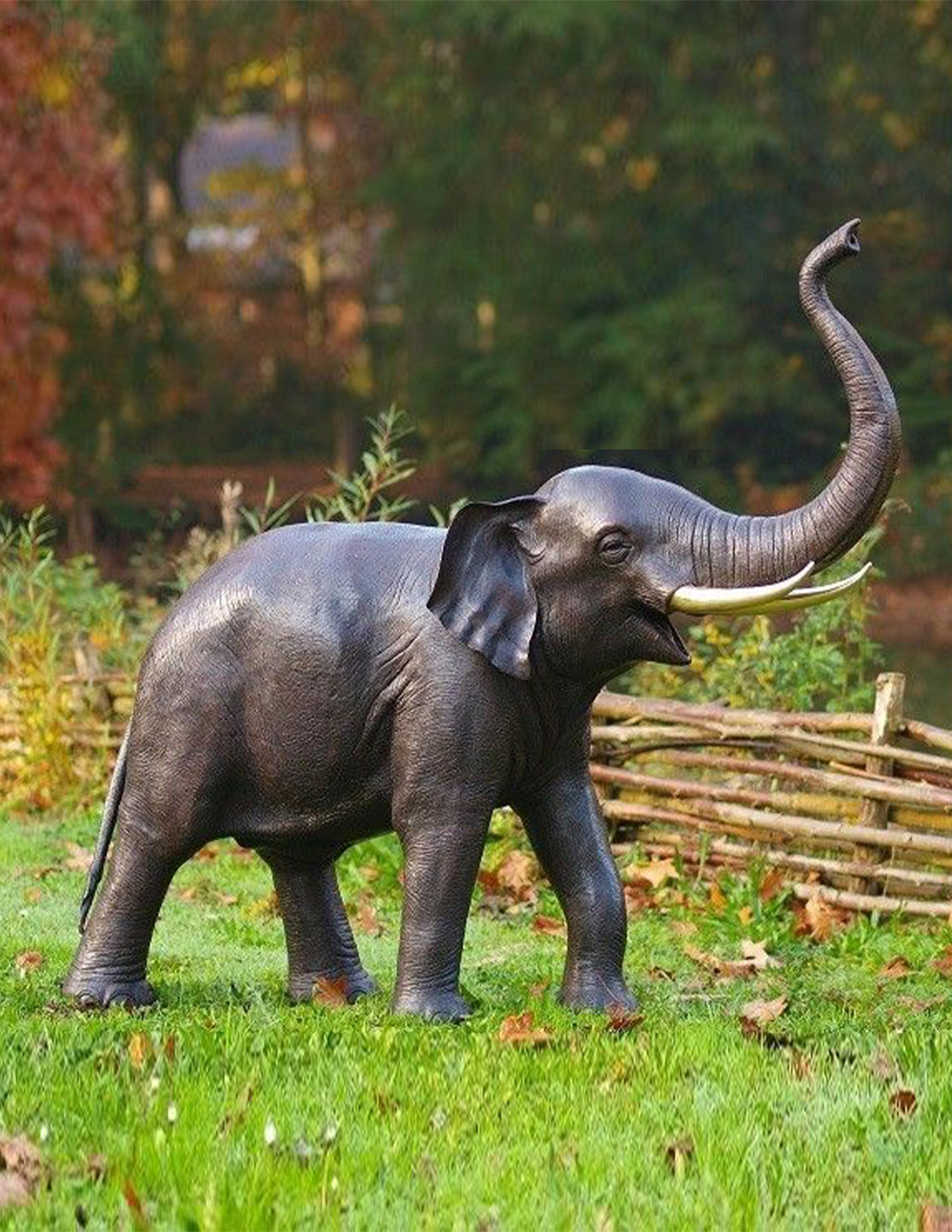 FO 17 Solid Bronze Fountain Elephant Sculpture 1 | Avant Garden