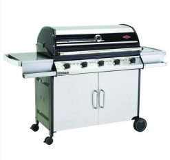 BeefEater BD47250 Discovery 1000RS Series 5 Burner Stainless Steel BBQ & Cabinet Side Burner Trolley