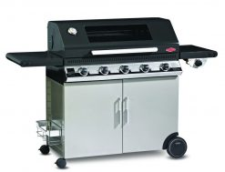 Beefeater Discovery 1100E Series 5 Burner BBQ with Stainless Steel Cabinet with Side Burner