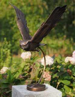 BI 37 Fine Cast Solid Bronze Sculpture Owl Flying 1 | Avant Garden
