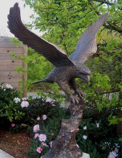 Bronze Eagle Sculpture