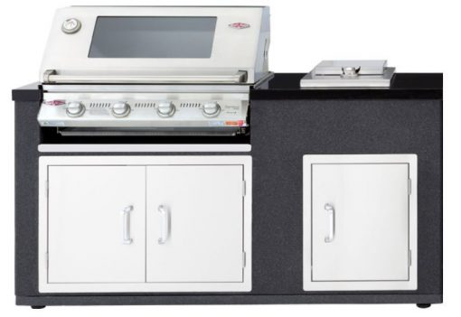 BS79910 Beefeater Artisan Gas Barbecue Series S3000S 4 Burner Stainless Steel Cast Iron Pack BBQ Module Double Door Single Door Side Burner 1 Avant Garden Guernsey