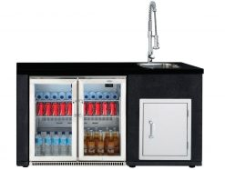 Beefeater Artisan Gas Barbecue Series Double Door Fridge, Module complete with Sink, Tap and Single Door
