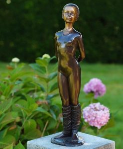 Bronze Sculpture Ballerina Standing Tall