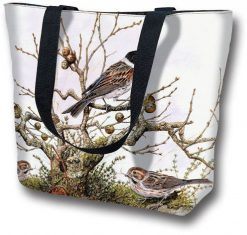Tote Bag large Branch and Bird
