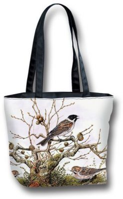 Tote Bag Small Branch and Bird