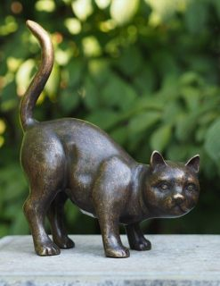 Bronze Sculpture Cat Posing