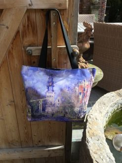 Tote Bag Large Canal at Amsterdam by Monet