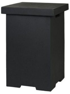 SRSE01Z Happy Cocooning Enclosure Side Table LPG Square Black | Avant Garden Guernsey