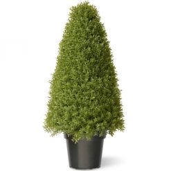 Buxus Boxwood Topiary Artificial Tree - 36""