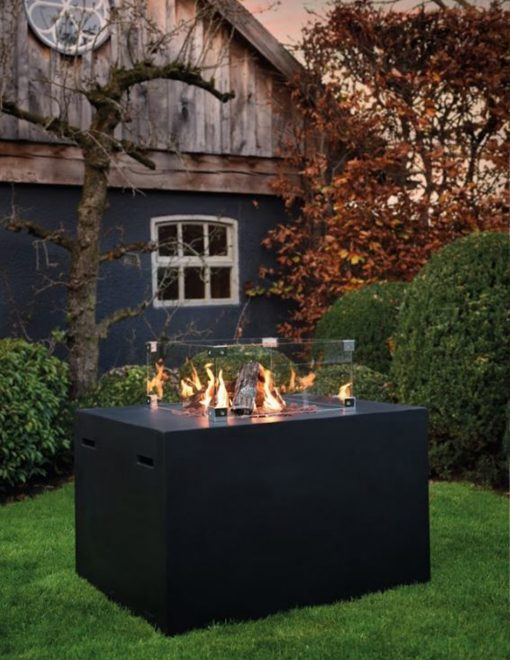 SRS6504A Happy Cocooning Cocoon Lounge & Dining Rectangular Gas Fire Pit 1 Avant Garden Guernsey