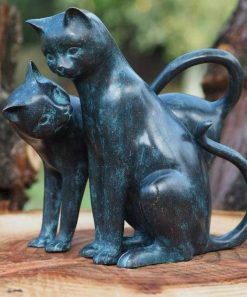 Bronze Cat Sculptures